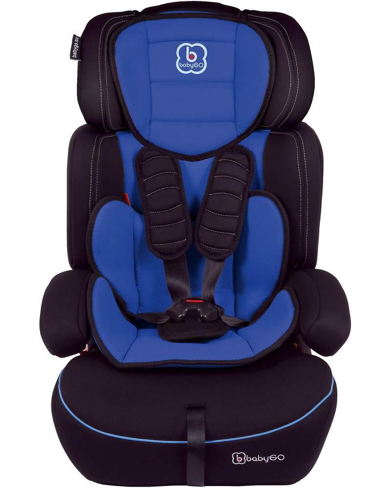 BabyGo 'Freemove' Autokindersitz in Blau, 9 bis 36 kg (Gruppe 1/2/3), umbaubar zur Sitzerhöhung Bild 1