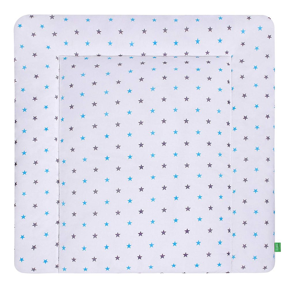 Lulando 'Grey - Blue Stars' Wickelauflage 75 x 80 cm Bild 1