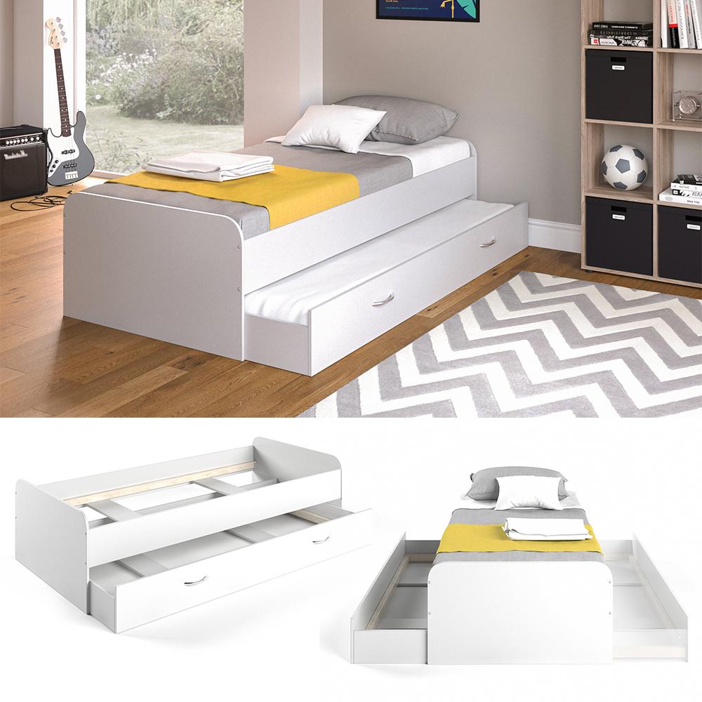 VitaliSpa 'Enzo' Bett weiß, 90 x 200 cm, inkl. Matratze und Lattenrost Bild 1