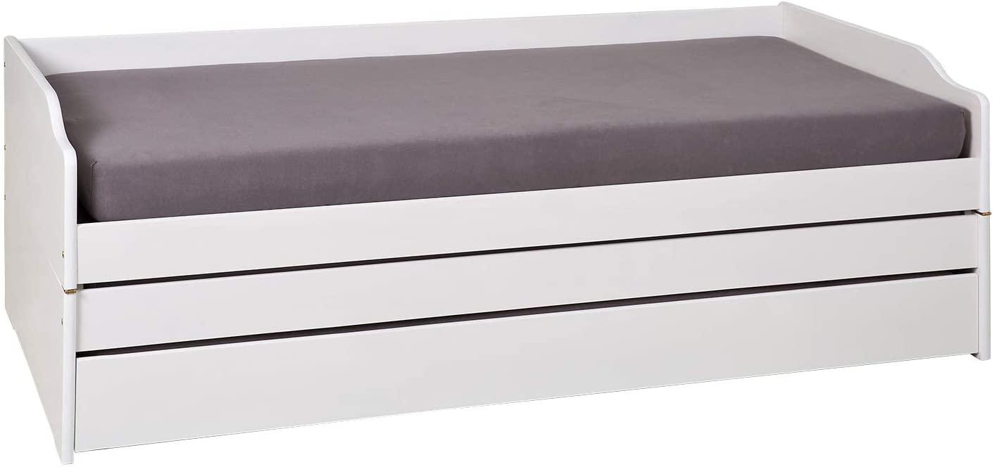 Interlink 'LOTAR' Bett weiß lackiert, 90 x 200 cm, mit Klappfunktion Bild 1