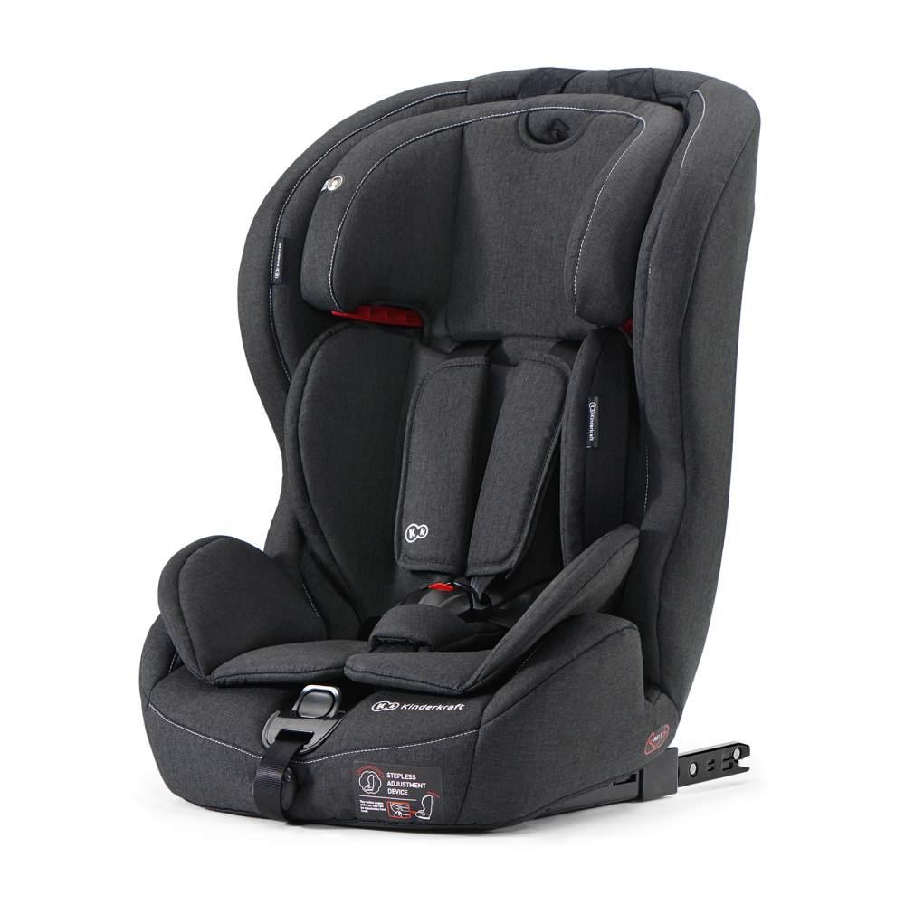 Kinderkraft 'Safety-Fix' Autokindersitz Black, 9 bis 36 kg (Gruppe 1/2/3), Isofix, mit Aufprallschutz Bild 1