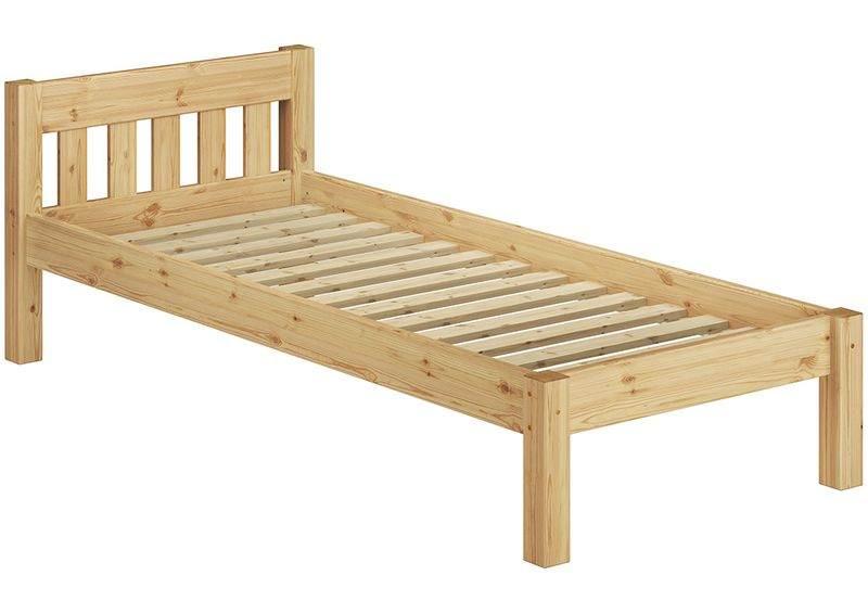 Erst-Holz Einzelbett Kiefer natur inkl. Federleisten Rollrost 100x200 Bild 1