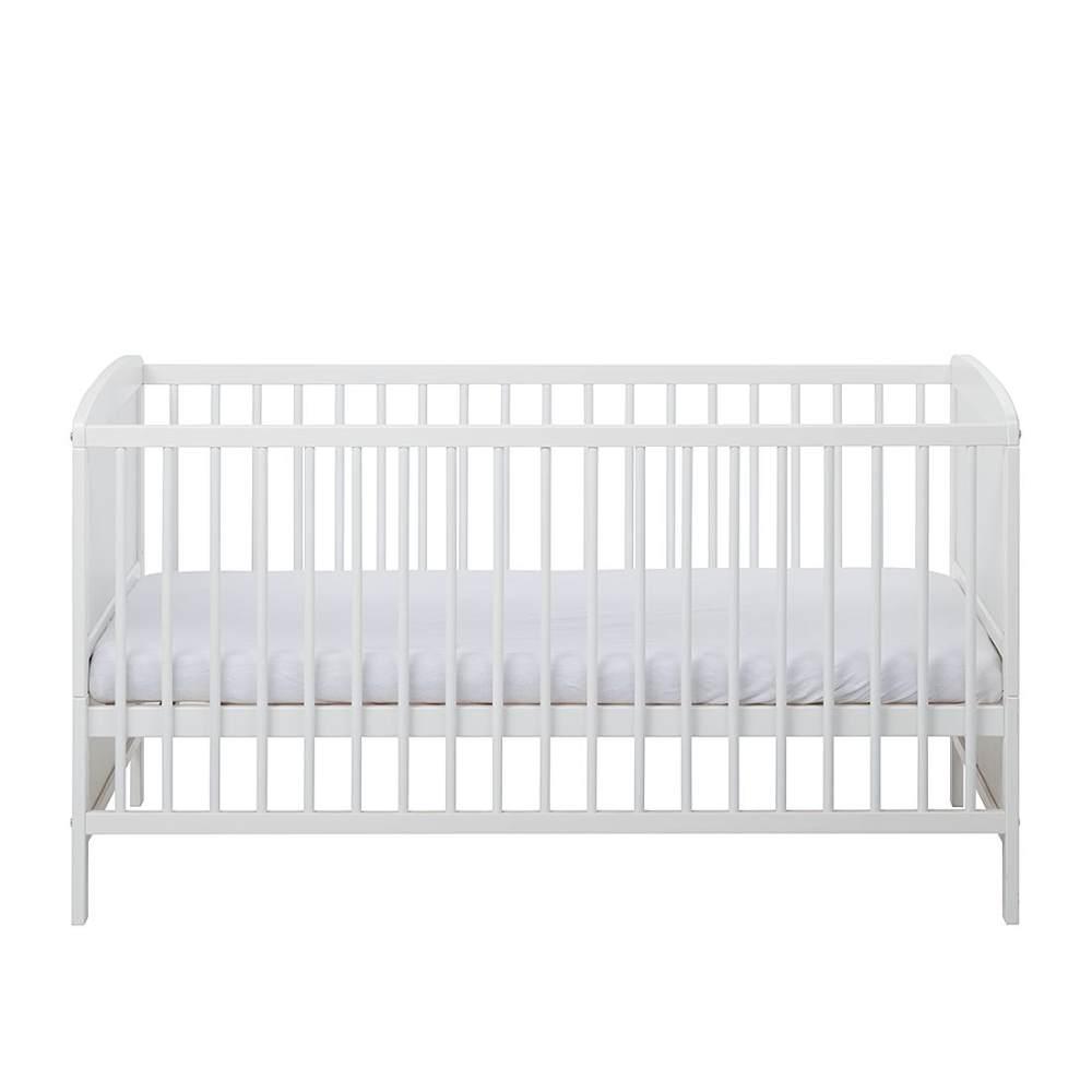 Schardt 'Conny' Kombi-Kinderbett 70x140 cm, weiß, 3-fach höhenverstellbar, Schlupfsprossen Bild 1