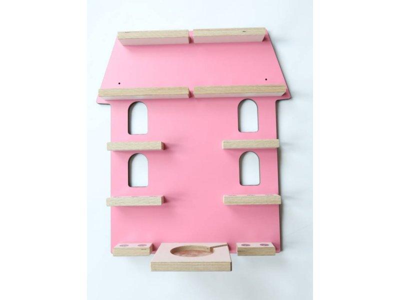 Schreinerei Linden 'Villa - Stadthaus' Wandregal rosa Bild 1