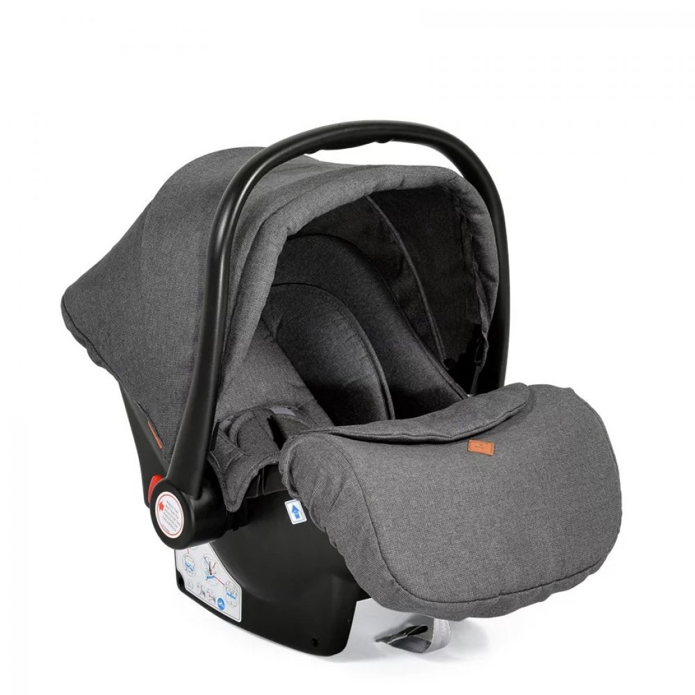 Cangaroo Babyschale Kindersitz Macan Gruppe 0+ (0 - 13 kg) Fußabdeckung Kissen grau Bild 1