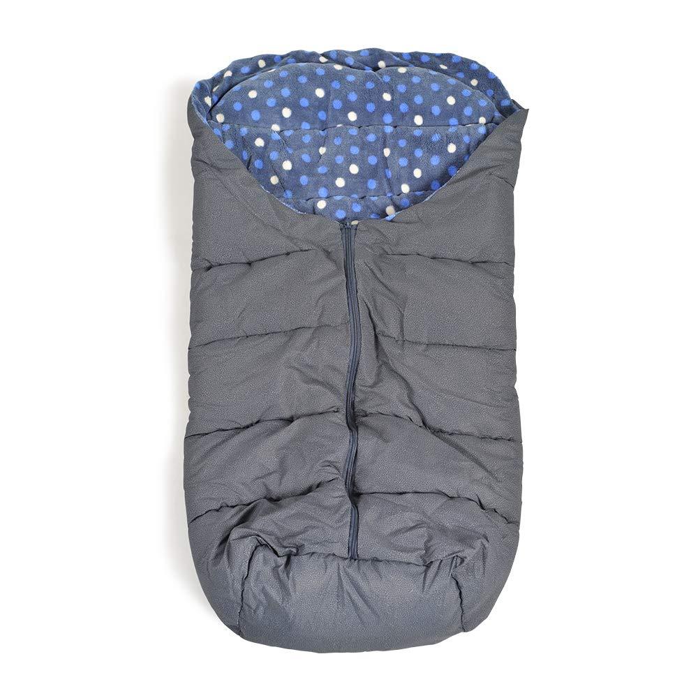 Cangaroo Fußsack Cuddle, für Kinderwagen Thermofleece wasserdicht Reißverschluss blau Bild 1