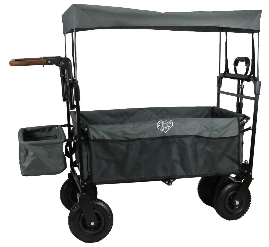 Elternstolz Bollerwagen Grau, faltbar mit Luftreifen Bild 1