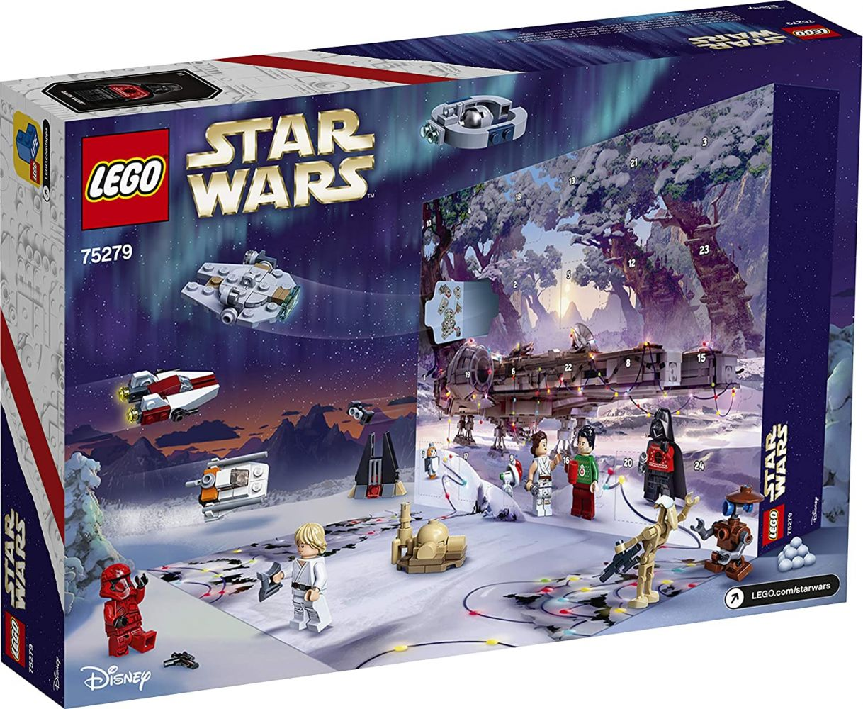 LEGO Star Wars™ 75279, Adventskalender 2020, Weihnachtskalender mit 24 Türchen, Mini Bauset mit legendären Charakteren und Raumschiffen Bild 1