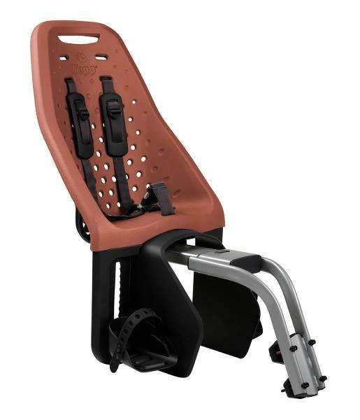 Thule 'Yepp Maxi' Kinderfahrradsitz braun, bis 22 kg, inkl. Rahmenhalterung Bild 1
