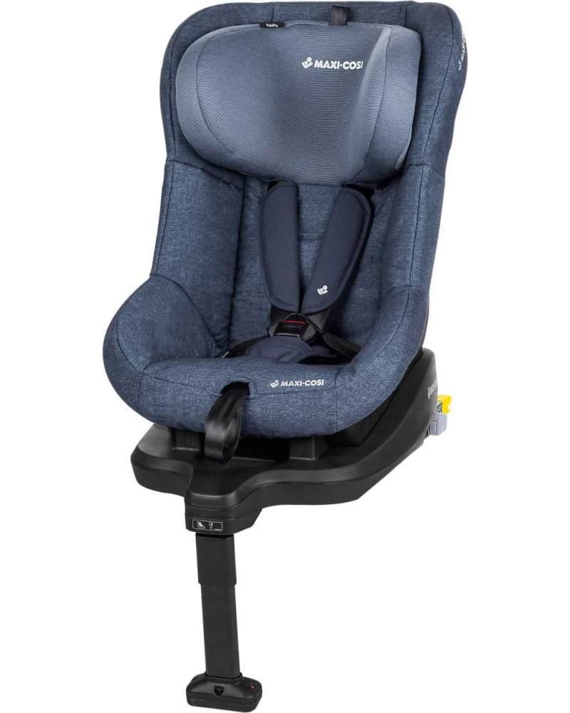 Maxi-Cosi TobiFix Kinderautositz mit Isofix und fünf komfortablen Sitz und Liegepositionen, Gruppe 1 Autositz, Nutzbar ab 9 Monate bis 4 Jahre, nomad blue (blau) 9-18 kg Bild 1