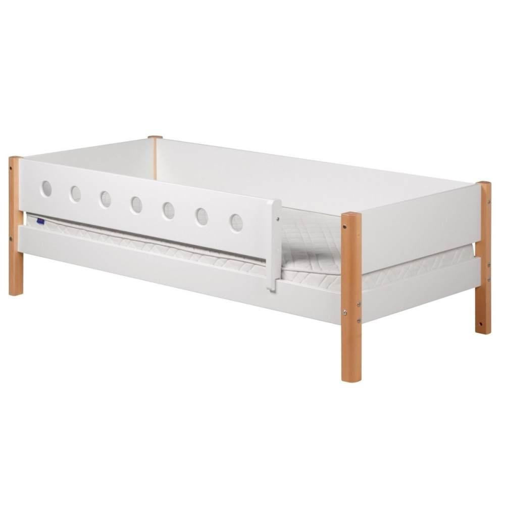 Flexa 'White' Einzelbett weiß/natur, 90x190 cm Bild 1