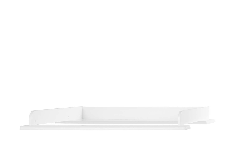 Miami Wickelaufsatz 80x75cm, passend Kommoden, Holz, Weiss metallic, 80.8 x 97.6 x 8 cm Bild 1