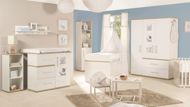 Roba 'Pia' 3-tlg. Babyzimmer-Set Kommode schmal Bild 1