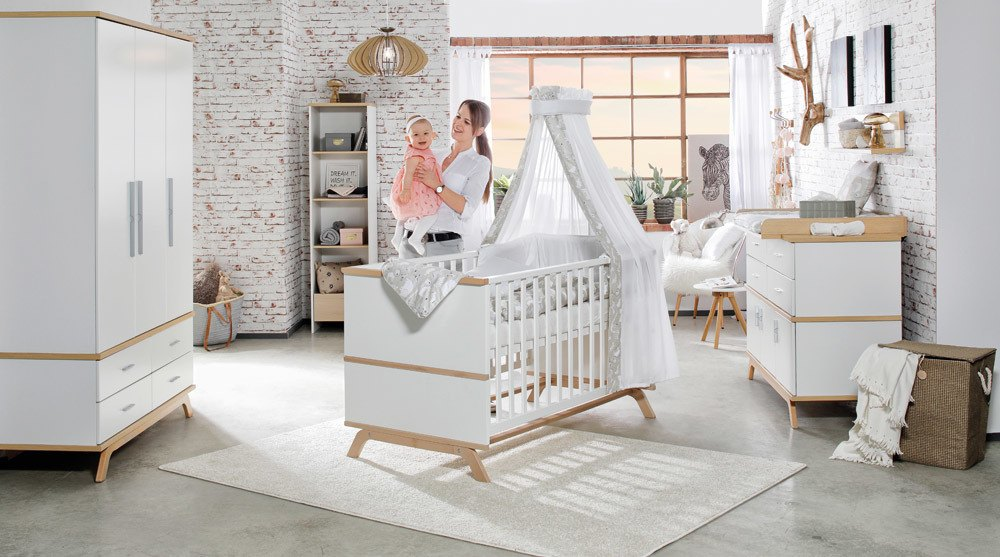 Schardt 'Vicky Oak' 2-tlg. Babyzimmer-Set Bild 1