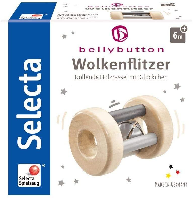 Selecta 'Wolkenflitzer' Rollende Holzrassel mit Glöckchen Bild 1