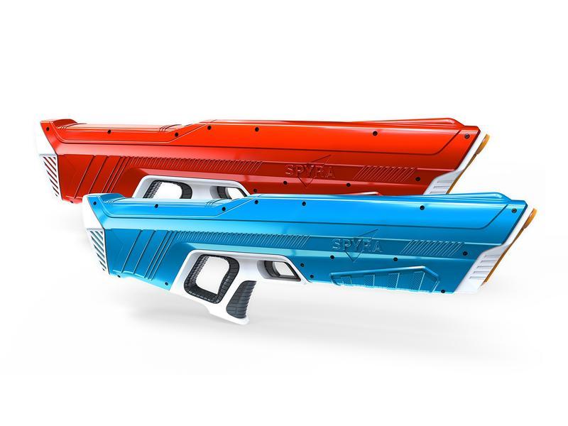 Spyra 'SpyraOne DUEL SET', 2x Wasserpistolen, rot und blau, 12 Meter effektive Reichweite, halbautomatische Wassergeschosse, kein Pumpen nötig, einfache und schnelle Befüllung, starker Akku, ab 14 Jahren Bild 1