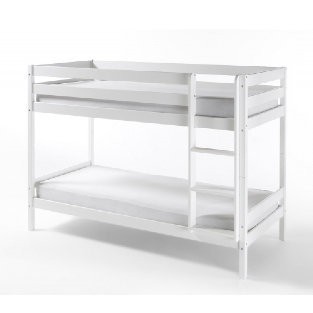 Homeline 'Kevin' Etagenbett, Weiß, 90x200 cm, Kiefer massiv Bild 1