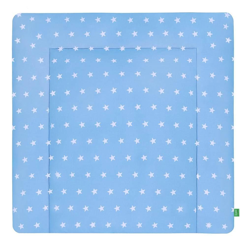LULANDO Wickelauflage 75 x 80 cm blau/weiß Bild 1