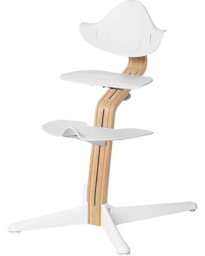 Evomove 'Nomi' Hochstuhl (Mittelsäule + Kunststoffelemente) weiß geölt, white Bild 1