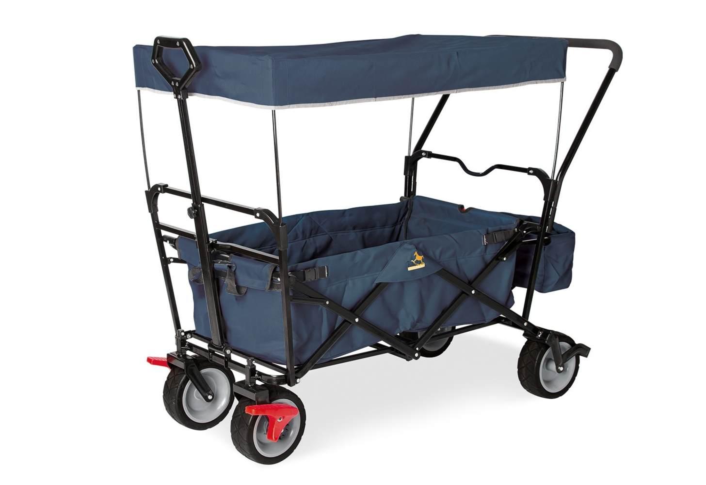 Pinolino 'Paxi dlx Comfort' Klappbollerwagen in Marineblau, inkl. Feststellbremse, Sonnendach, Hecktasche und Schiebegriff Bild 1