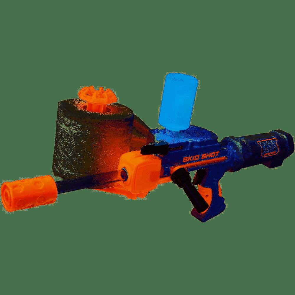 Jakks 61734-11L - Toilet Paper Blaster Skid Shot, verwandelt Klopapier in Papierkügelchen zum Schießen, Reichweite bis zu 9 m, spaßiges Outdoor Game für Groß und Klein, ab 8 Jahre Bild 1