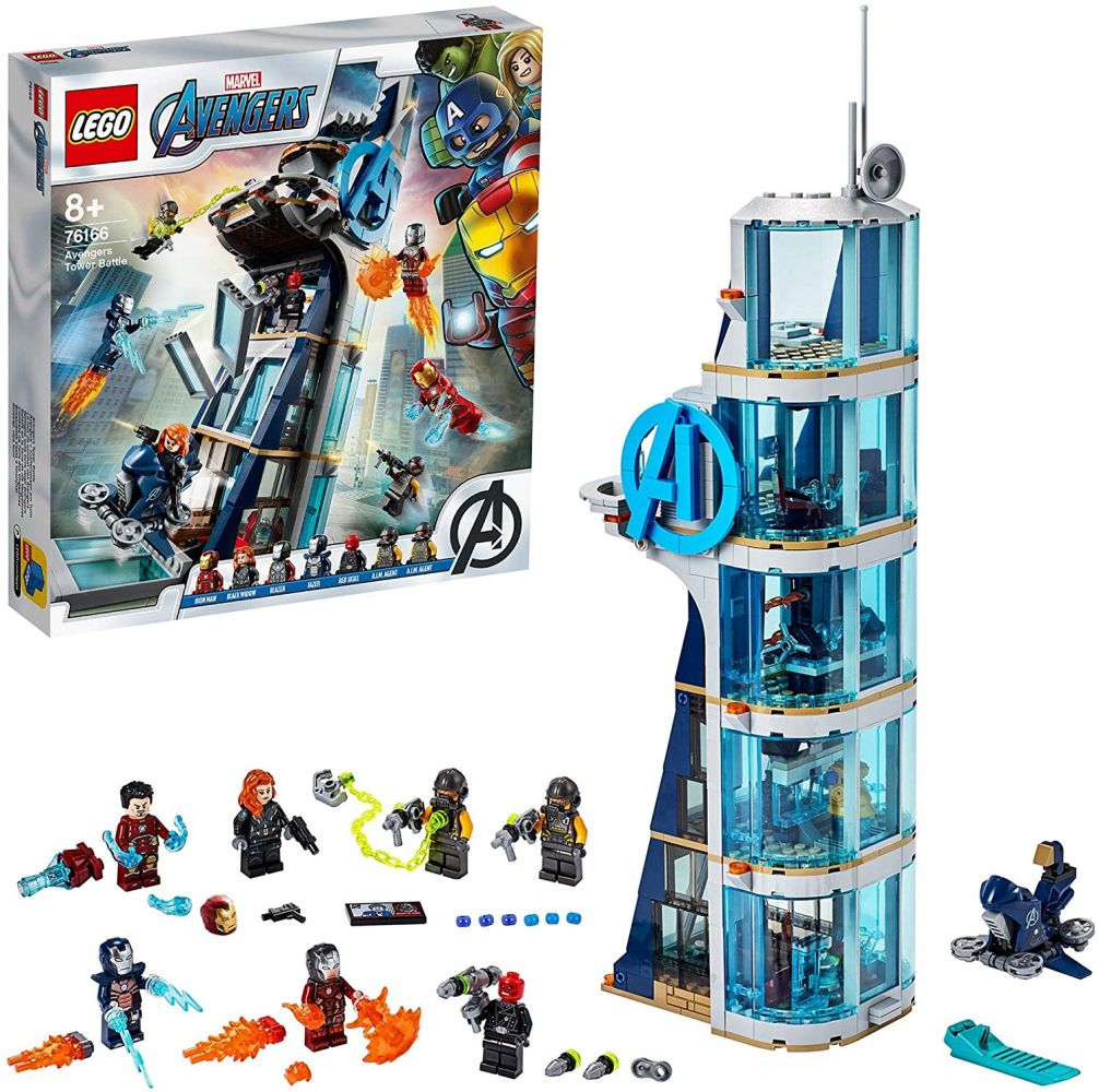 LEGO Marvel 76166 'Avengers – Kräftemessen am Turm', 685 Teile, ab 8 Jahren Bild 1