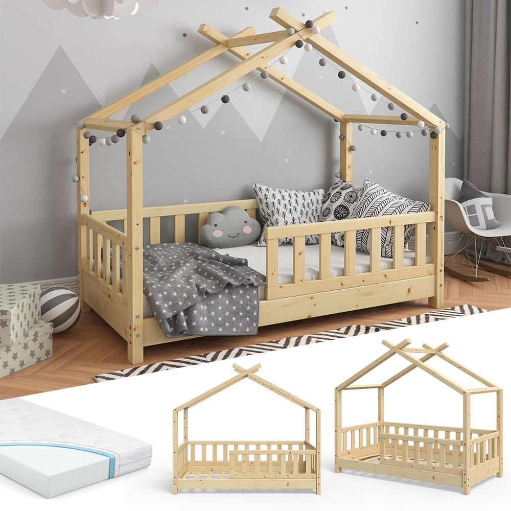 VITALISPA 'Design' Hausbett 70x140cm Natur, mit Matratze Bild 1