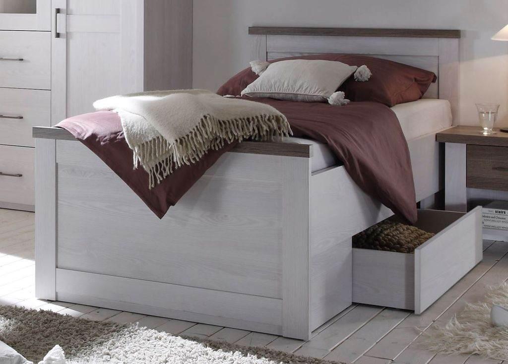 Bega 'Luca' Bett pinie weiß/trüffel, 90x200 Bild 1