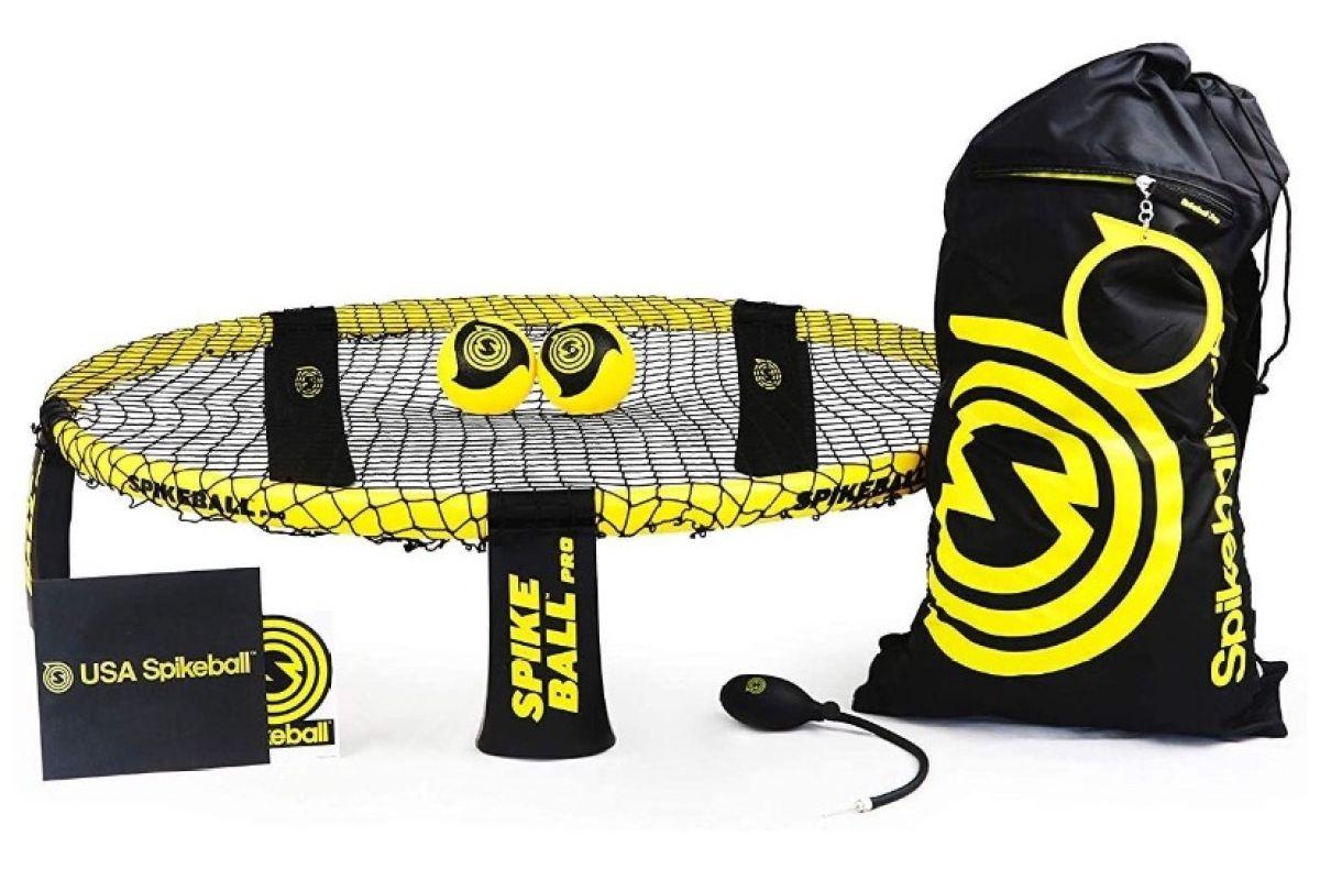 Spikeball 'Pro Set' - verbessertes, stärkeres Netz, mehr Spin durch neu designte Bälle, schwarz/gelb Bild 1