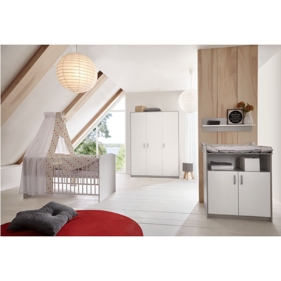 Schardt 'Classic Grey' 3-tlg. Babyzimmer-Set Schrank 3-türig Bild 1