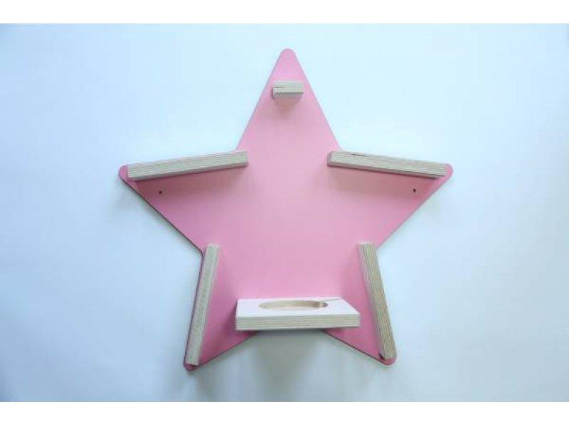Schreinerei Linden Wandregal Stern' rosa für Tonie-Figur und Tonie-Box Bild 1