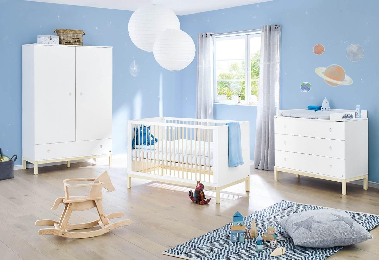 Pinolino 'Skadi' 3-tlg. Kinderzimmer-Set breit, cremeweiß Bild 1