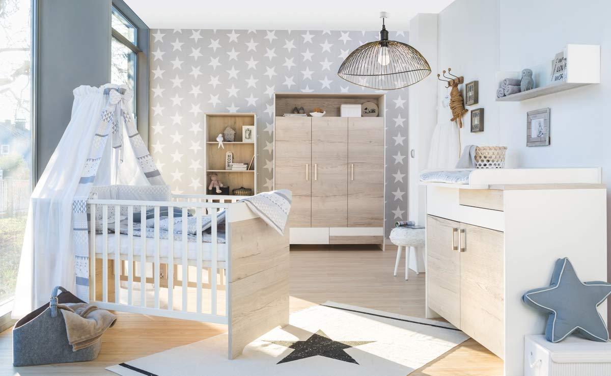 Schardt 'Clou Oak' 3-tlg. Babyzimmer-Set Schrank 3-türig Bild 1