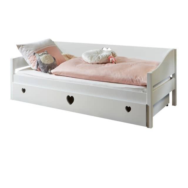 Relita 'Elsa' Bett weiß 90x200 cm mit Bettkasten Bild 1