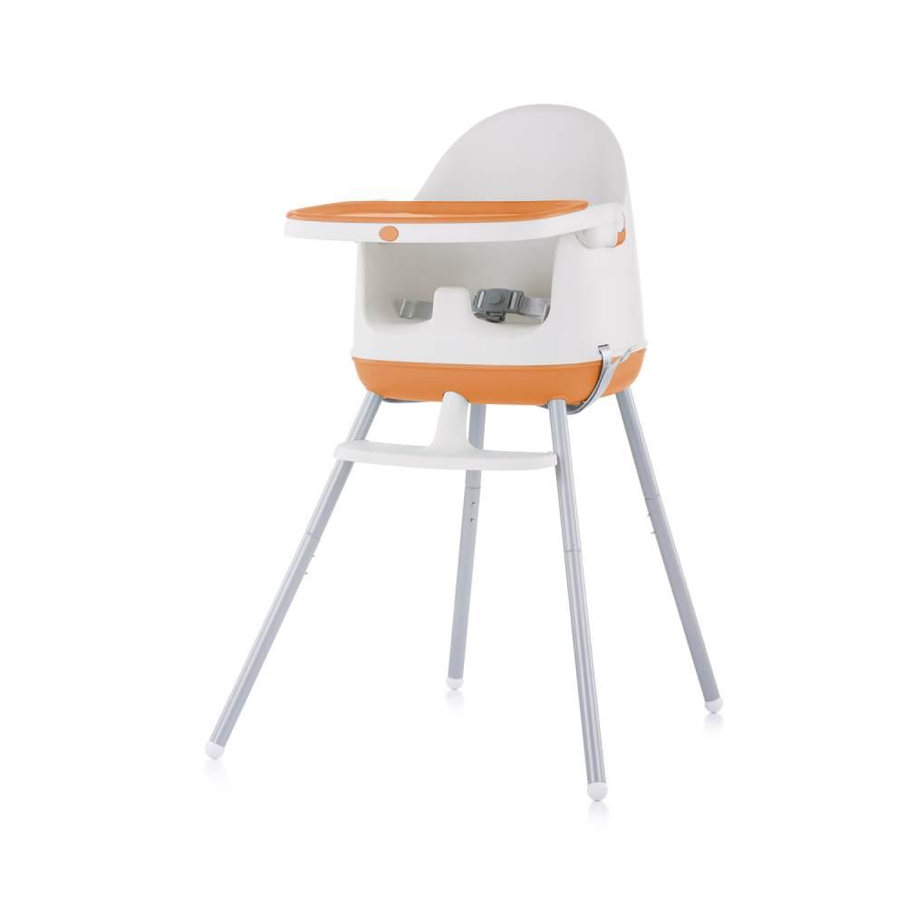 Chipolino Hochstuhl 3 in 1 Pudding Sitzerhöhung, Tablett, Fußstütze, Kinderstuhl orange Bild 1