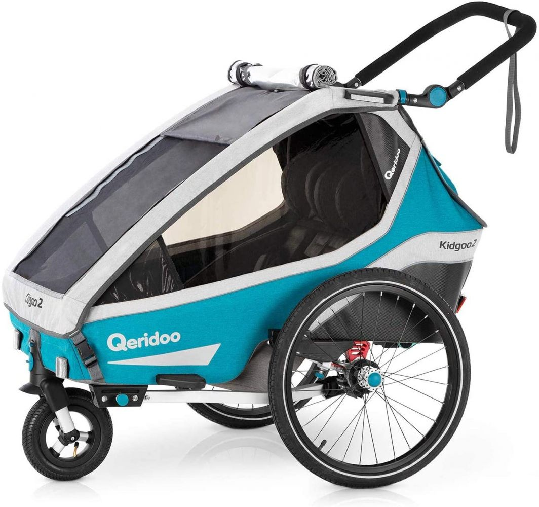 Qeridoo 'Kidgoo2' 2020 Petrol, 2-Sitzer inkl. Kupplung und Buggyrad Bild 1