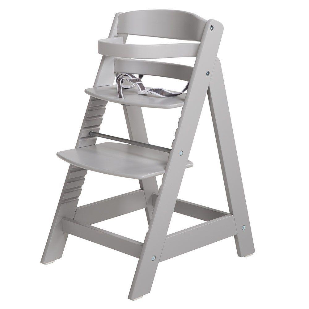 Roba 'Sit Up III' Treppenhochstuhl, grau, höhenverstellbar, mit Sicherheitsbügel und Gurtsystem, bis 50 kg belastbar Bild 1