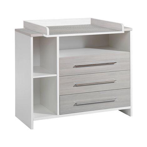 Schardt 'Eco Silber' Wickelkommode grau / weiß Bild 1