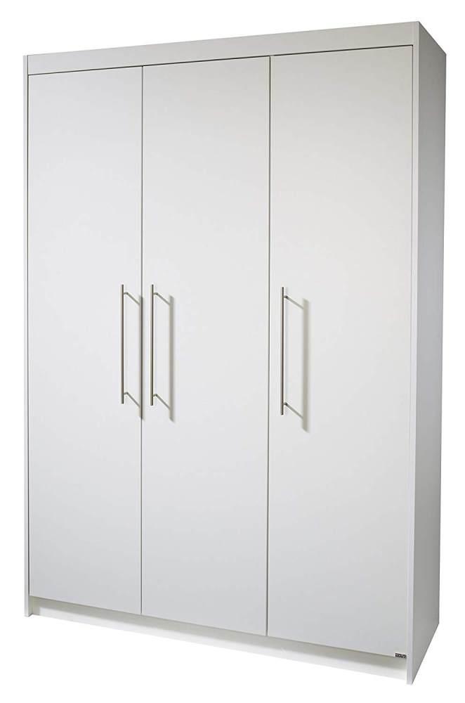 Roba 'Maren' 3-trg. Kleiderschrank, weiß, mit 2 Kleiderstangen und 6 Ablagefächern Bild 1