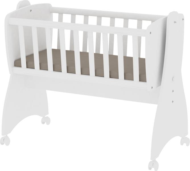 Lorelli 'First Dreams' Babywiege, weiß, 4 Räder mit Bremsfunktion, umbaubar Bild 1