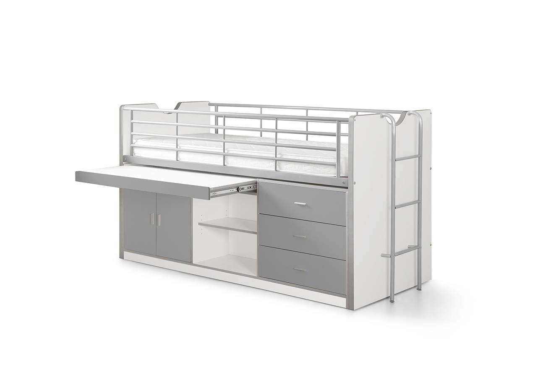 Vipack 'Bonny' Multifunktionsbett weiß/grau Bild 1