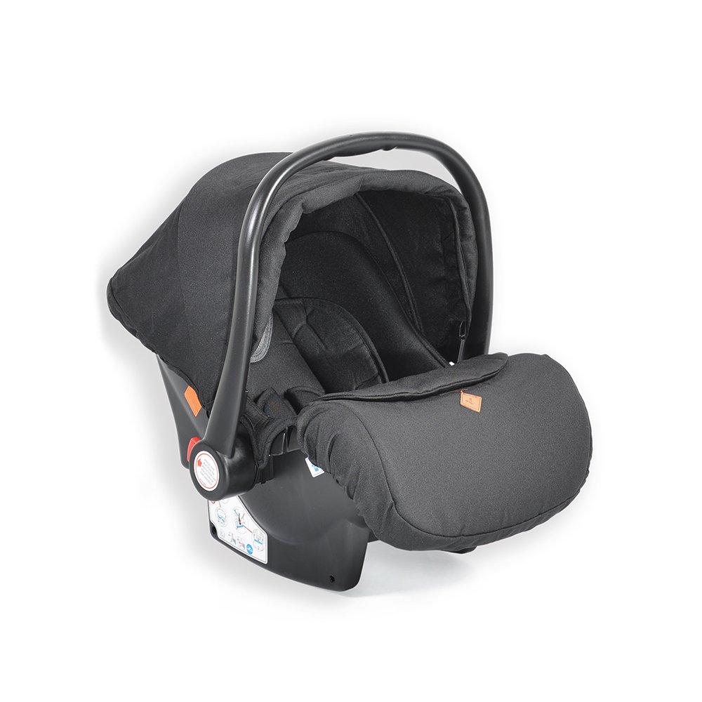 Cangaroo Babyschale Kindersitz Macan Gruppe 0+ (0 - 13 kg) Fußabdeckung Kissen schwarz Bild 1