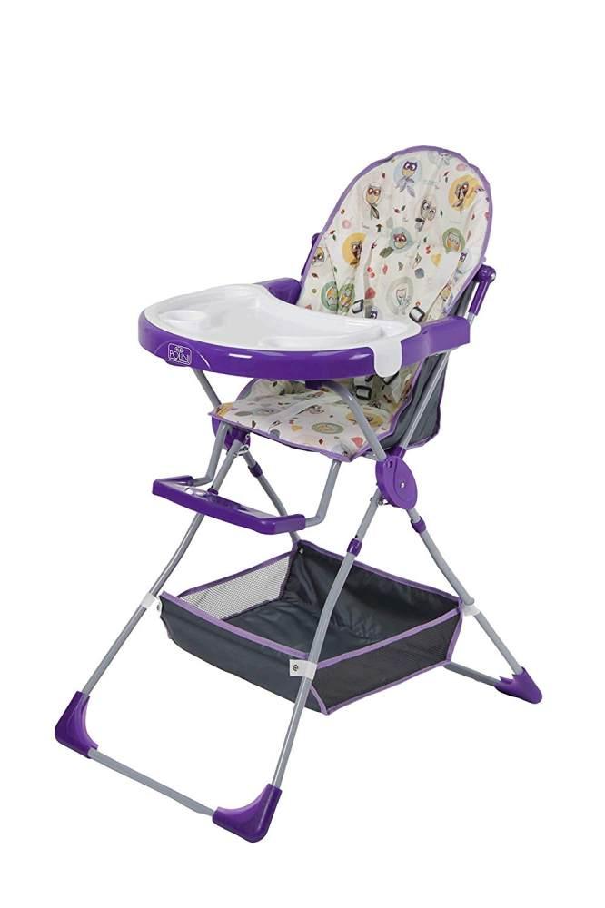 Polini Kids Kinderhochstuhl 252 Owls violett/weiß Bild 1