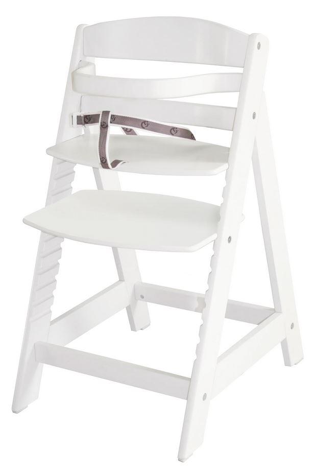 Roba 'Sit Up III' Treppenhochstuhl, weiß, höhenverstellbar, mit Sicherheitsbügel und Gurtsystem, bis 50 kg belastbar Bild 1