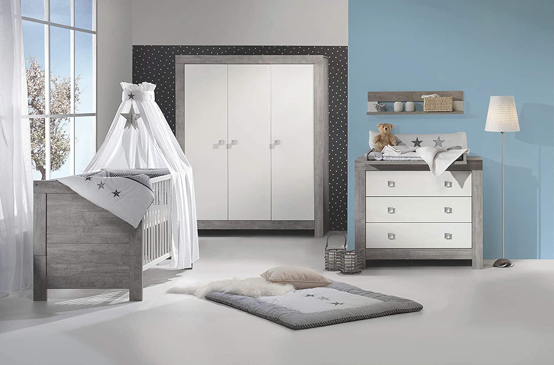 Schardt 'Nordic Driftwood' 3-tlg. Babyzimmer-Set grau, inkl. Kinderbett, Schrank 3-türig und Wickelkommode Bild 1