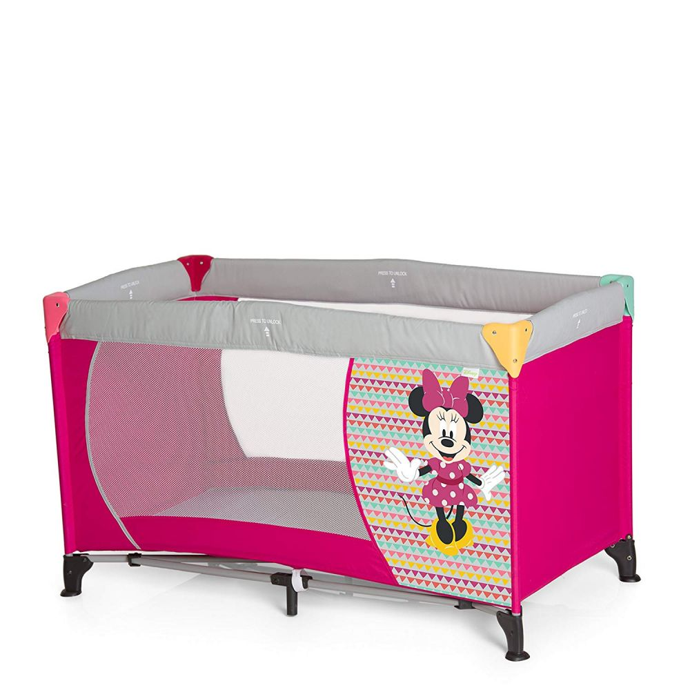 Disney Reisebett 'Dream and Play Mickey & Minnie' pink Bild 1