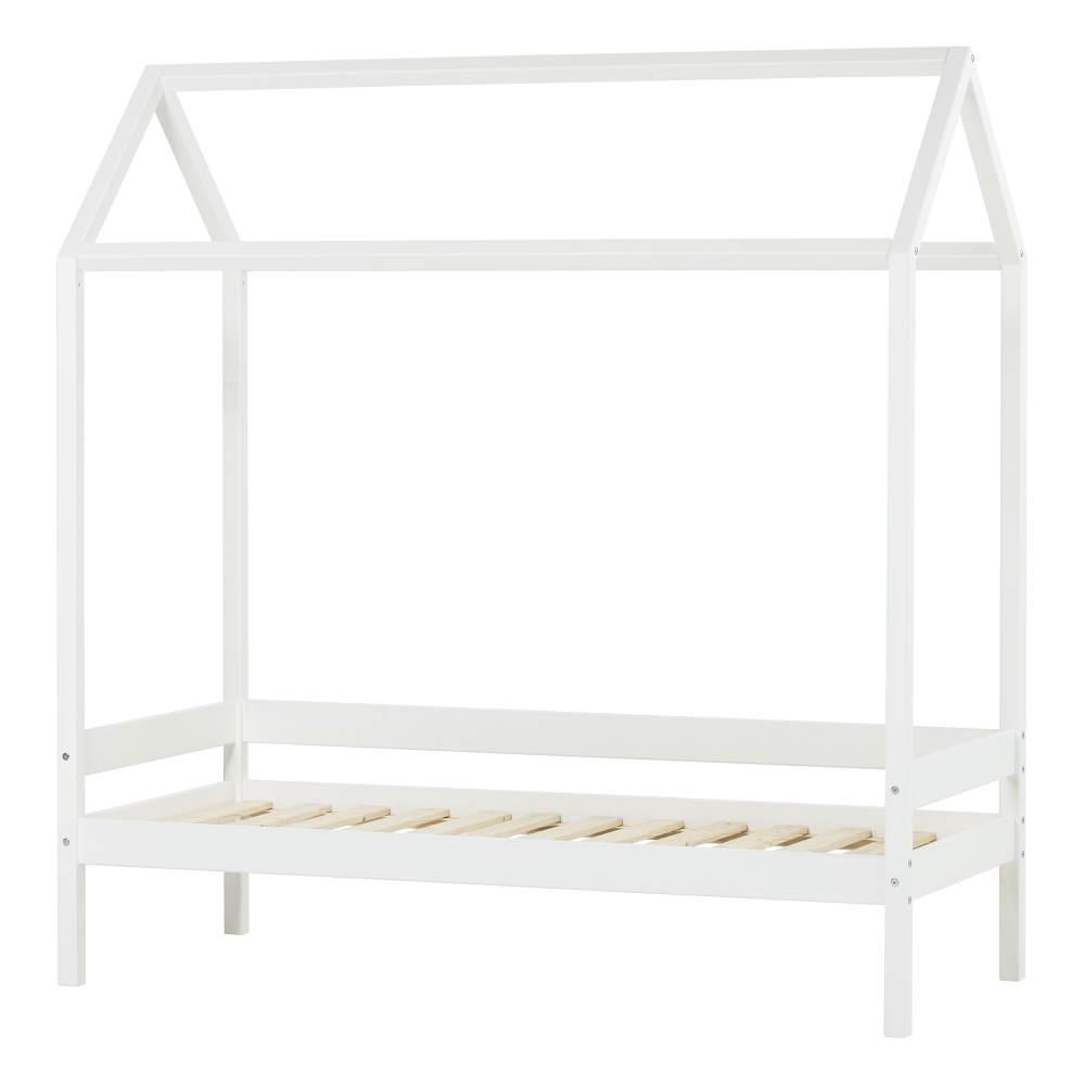 Hoppekids 'Ida-Marie' Hausbett 70x160cm, Weiß, inkl. Lattenrost Bild 1