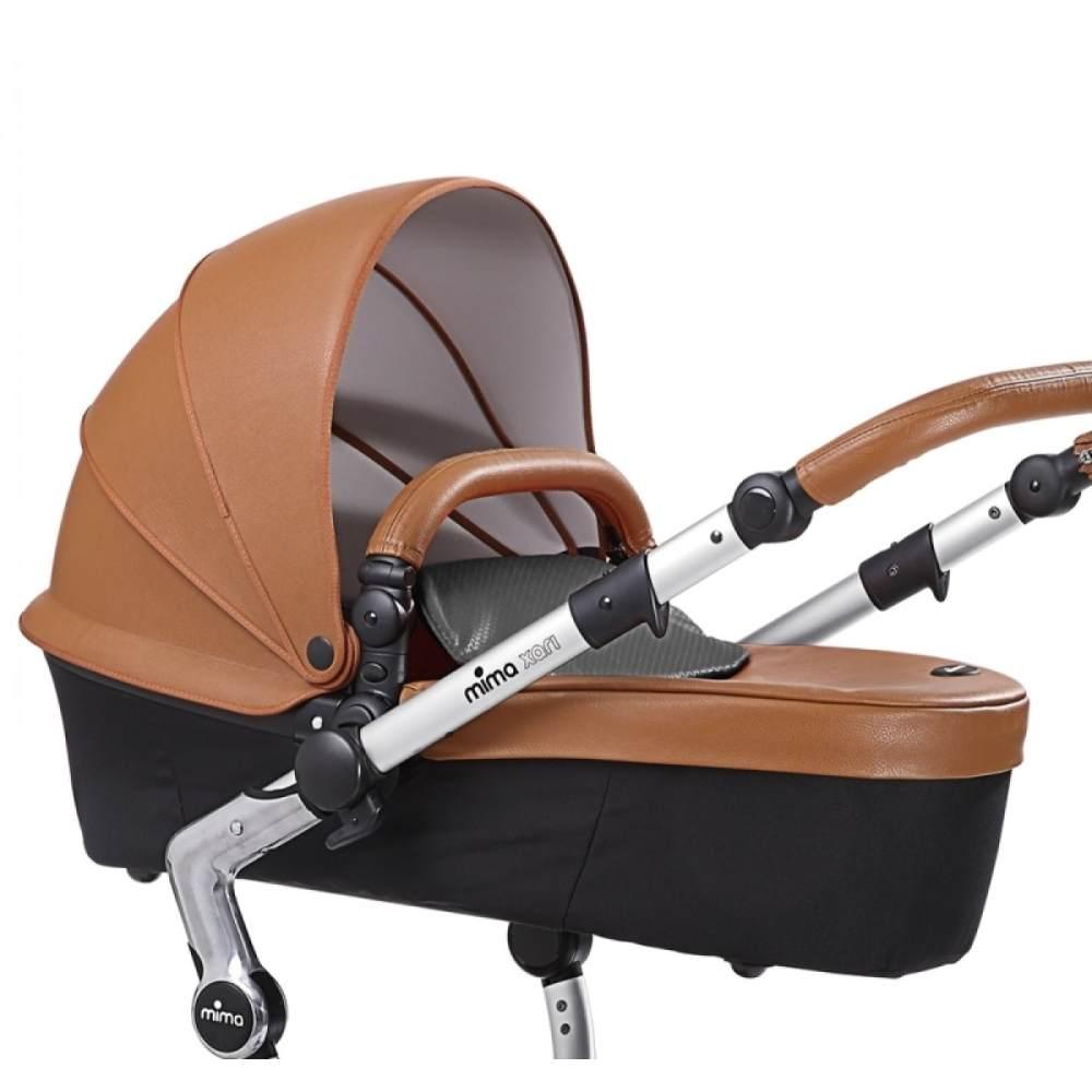 Mima Sportwagenaufsatz und Babywanne für Mima Xari 2020 Camel Bild 1