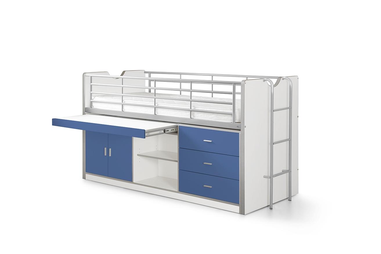 Vipack 'Bonny' Multifunktionsbett weiß/blau Bild 1