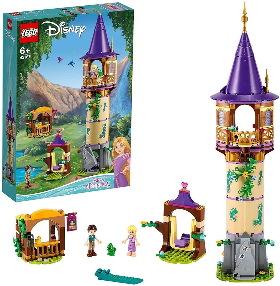 LEGO Disney™ 43187 'Rapunzels Turm', 369 Teile, ab 6 Jahren, für junge Fans der Disney Prinzessinnen Bild 1